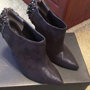 Nina black booties